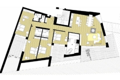 Mountain Suites holiday apartment 03-02 floorplan